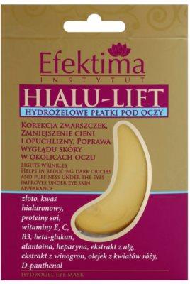 Efektima Institut Hialu-Lift гідрогелева маска для шкіри навколо очей проти зморшок та темних кіл