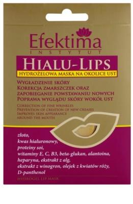 Efektima Institut Hialu-Lips máscara hidrogel para lábios com efeito rejuvenescedor