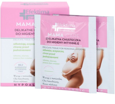 Efektima PharmaCare Mama-Care papírtörlők az intim higiéniához