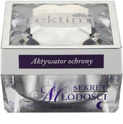 Efektima Institut Secret of Youth +45 crema de noapte cu efect antirid