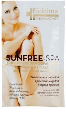 Efektima PharmaCare SunFree-SPA toalhete de autobronzeamento