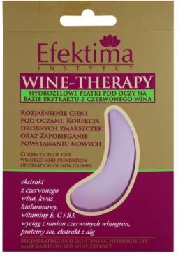 Efektima Institut Wine-Therapy mascarilla de hidrogel para contorno de ojos antiarrugas y antiojeras