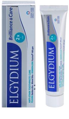 Elgydium Brilliance & Care bělicí pasta proti skvrnám na zubní sklovině 1