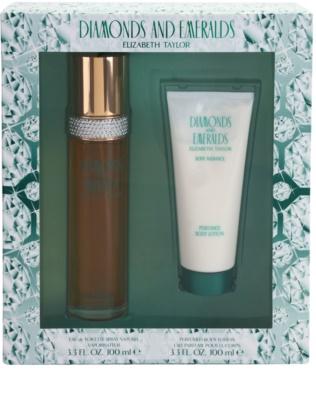 Elizabeth Taylor Diamonds and Emeralds coffret presente