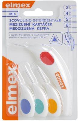 Elmex Caries Protection 4 Stück Interdentalbürsten mit drei Kanten Mix