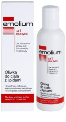 Emolium Body Care telový olej s lipidmi pre suchú a citlivú pokožku 1