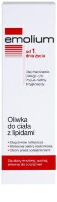 Emolium Body Care telový olej s lipidmi pre suchú a citlivú pokožku 2