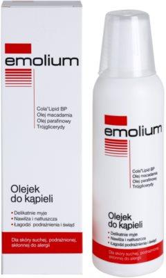 Emolium Wash & Bath olej do kúpeľa pre suchú a podráždenú pokožku 1