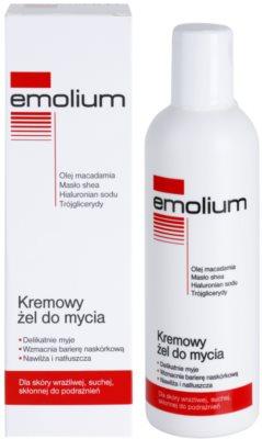 Emolium Wash & Bath gel de ducha en crema para pieles secas y sensibles 1