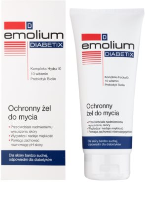 Emolium Wash & Bath Diabetix захисний гель  для сухої шкіри 1