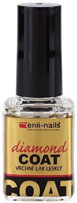 Enii Nails Top Coat Diamond lakier nawierzchniowy zapewniający doskonałą ochronę i intensywny blask