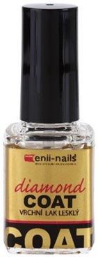 Enii Nails Top Coat Diamond Verniz de camada superior para uma proteção perfeita e brilho intenso