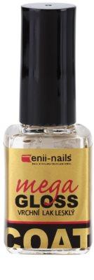 Enii Nails Top Coat Mega Gloss glänzender Deck-Schutzlack für die Fingernägel