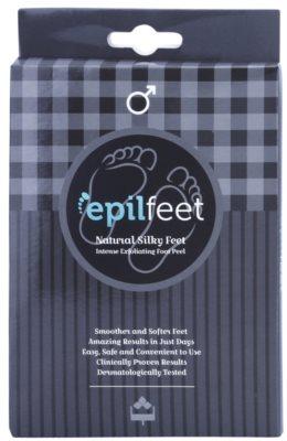 Epilfeet Men calcetines exfoliantes para suavizar e hidratar la piel de los pies
