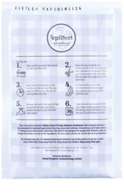 Epilfeet Men exfoliační ponožky pro zjemnění a hydrataci pokožky nohou 1