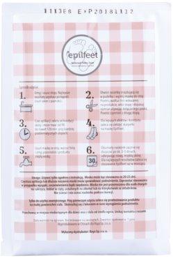 Epilfeet Women bőrhámlasztó zokni a láb bőrének puhítására és hidratálására 1