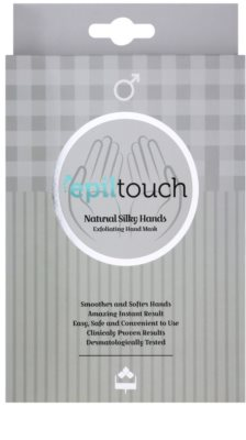 Epiltouch Natural Silky Hands маска - ексфоліант для рук у формі рукавичок для чоловіків