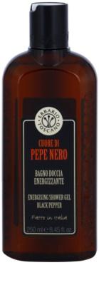 Erbario Toscano Black Pepper energizující sprchový gel