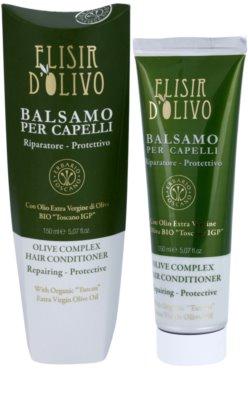 Erbario Toscano Elisir D'Olivo condicionador de cabelo com azeite 1