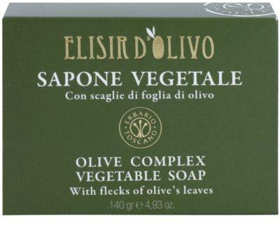Erbario Toscano Elisir D'Olivo tuhé mýdlo s olivovým olejem 2