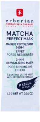 Erborian Detox Matcha Perfect Mask maska rewitalizująca minimalizująca pory 3 w 1