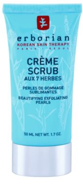Erborian Detox 7 Herbs schonende Peelingcreme zur Erneuerung der Hautoberfläche