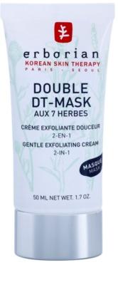 Erborian Detox Double DT-Mask 7 Herbs Gyengéd hámlasztó krém 2 az 1-ben