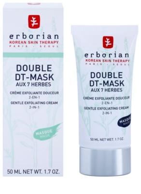 Erborian Detox Double DT-Mask 7 Herbs Gyengéd hámlasztó krém 2 az 1-ben 1