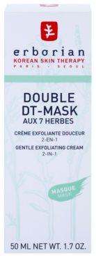 Erborian Detox Double DT-Mask 7 Herbs Gyengéd hámlasztó krém 2 az 1-ben 2