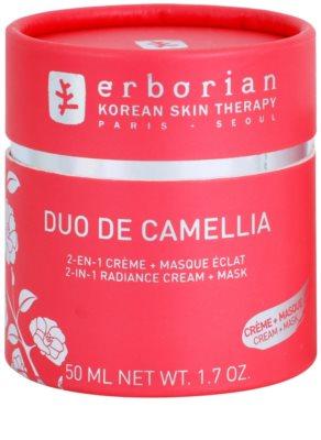 Erborian Cammelia aufhellende Creme und Maske 2in1 2
