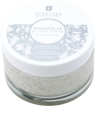 Erborian Magnolia peeling corporal  com efeito nutritivo