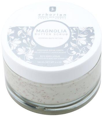 Erborian Magnolia testpeeling tápláló hatással