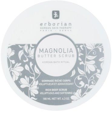 Erborian Magnolia tělový peeling s vyživujícím účinkem 1