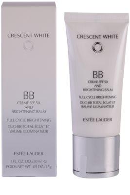 Estée Lauder Crescent White crema BB iluminadora antimanchas SPF 50 1