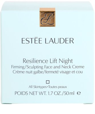 Estée Lauder Resilience Lift przeciwzmarszczkowy krem liftingujący na noc do wszystkich rodzajów skóry 4