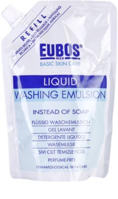 Eubos Basic Skin Care Blue emulzija za umivanje brez dišav nadomestno polnilo