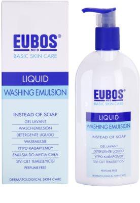 Eubos Basic Skin Care Blue emulsie pentru spalare fara parfum 1