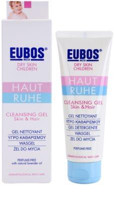 Eubos Children Calm Skin м'який очищуючий гель з алое вера 1