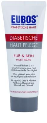 Eubos Diabetic Multi Active feuchtigkeitsspendende Creme für Füße und Fußsohlen