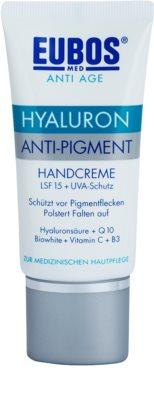 Eubos Hyaluron crema para manos para eliminar manchas de pigmentación SPF 15