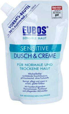 Eubos Sensitive tusfürdő krém termálvízzel utántöltő