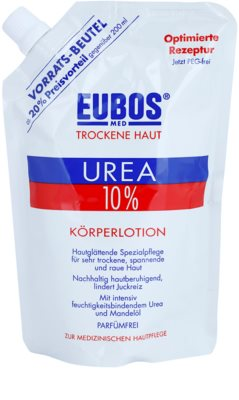 Eubos Dry Skin Urea 10% vlažilni losjon za suho in srbečo kožo nadomestno polnilo