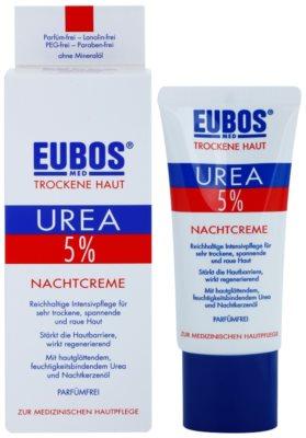 Eubos Dry Skin Urea 5% creme de noite nutritivo para pele sensível e intolerante 1
