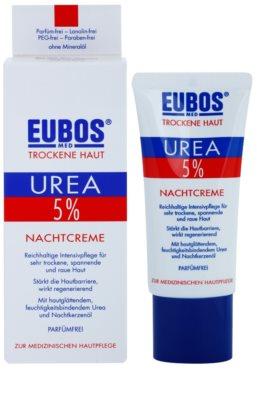 Eubos Dry Skin Urea 5% crema de noche nutritiva  para pieles sensibles e intolerantes 1