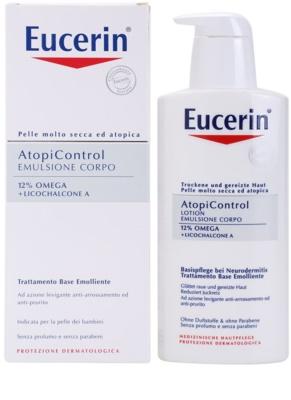 Eucerin AtopiControl lotiune de corp pentru piele uscata, actionand impotriva senzatiei de mancarime 2