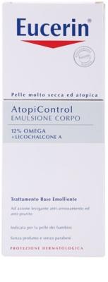 Eucerin AtopiControl testápoló tej száraz és viszkető bőrre 3