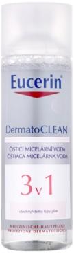 Eucerin DermatoClean água micelar de limpeza 3 em 1