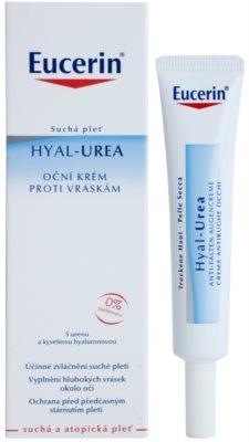 Eucerin Hyal-Urea Augencreme gegen Falten für trockene bis atopische Haut 1