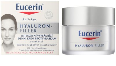 Eucerin Hyaluron-Filler crema de día antiarrugas  para pieles secas 1