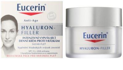 Eucerin Hyaluron-Filler creme de dia antirrugas para pele seca 1